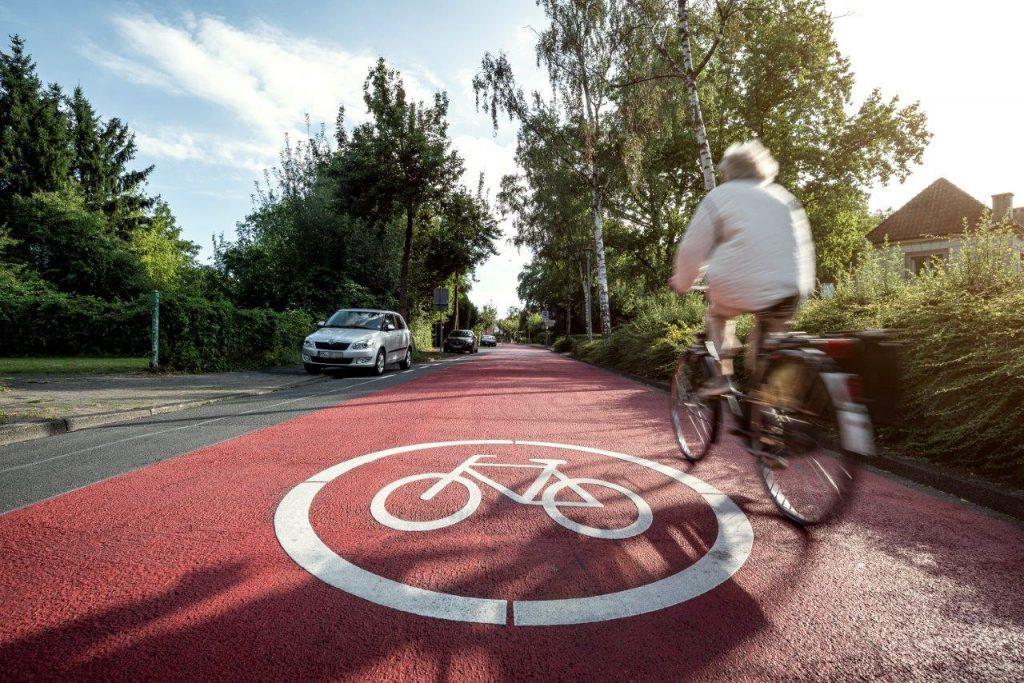 Fahrradweg in der Goldstraße