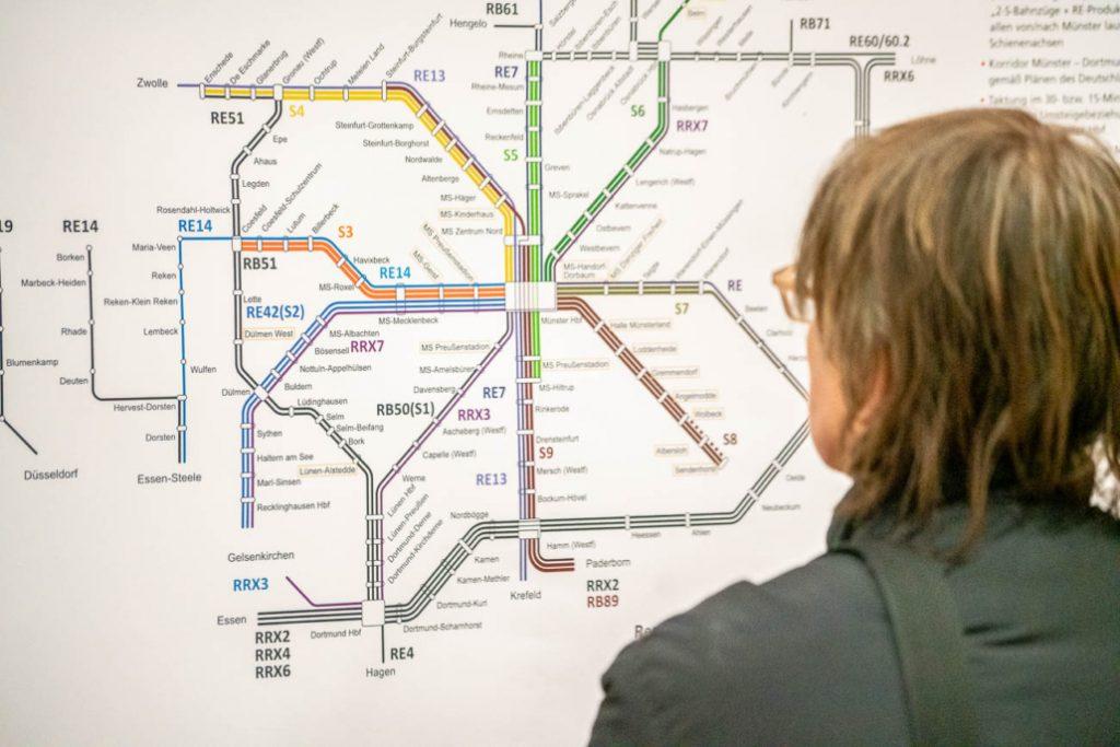 Karte der öffentlichen Verkehrsmittel im Stadtforum