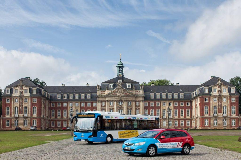 Car Sharing Auto und Bus