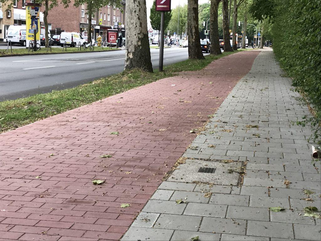 Wolbecker Straße Gehweg nach dem Umbau