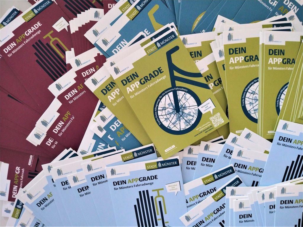 Postkarte als Werbeträger für die kostenlose Fahrrad-Navigations-app Naviki.