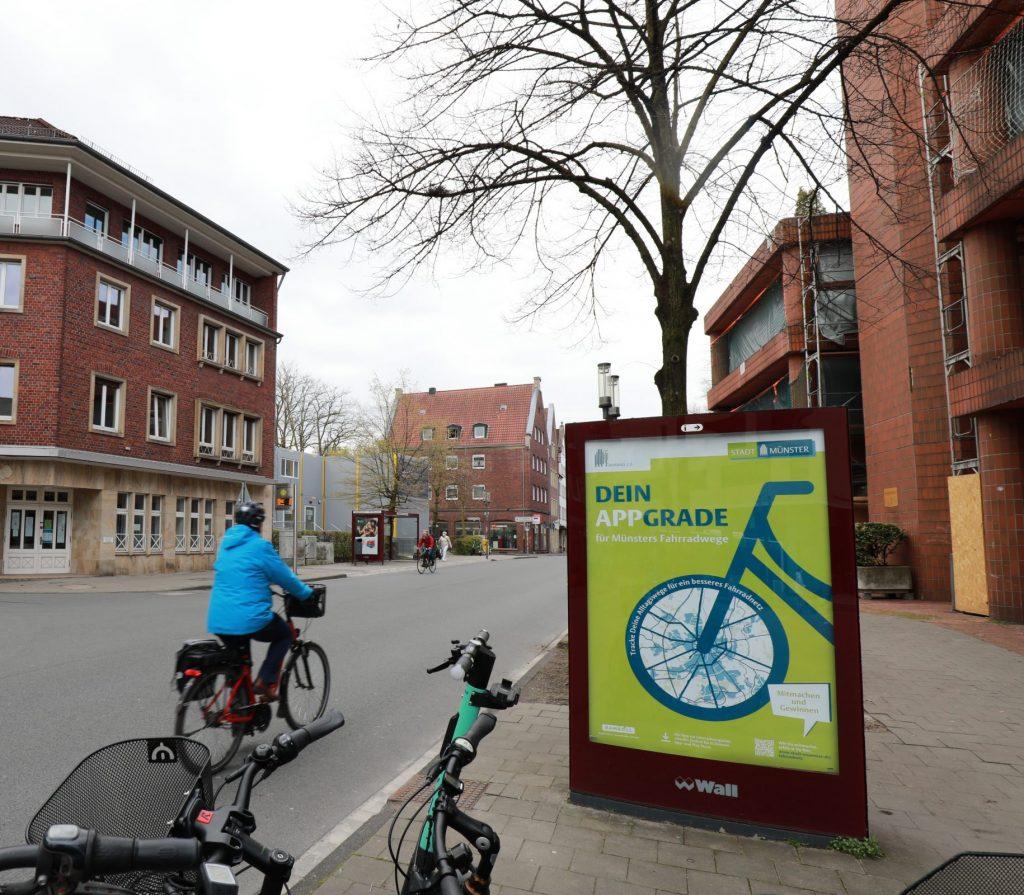 Außenwerbung für die Fahrrad-Navigations-APP Naviki.